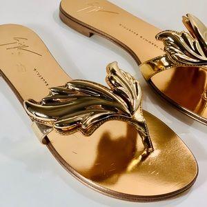 Giuseppe Zanotti Gold sandals Rock 10 Infradito